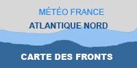 Atlantique Nord Carte des Fronts