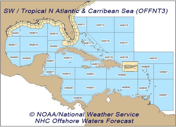 Téléchargez des fichiers météo en texte selon la zone de navigation.